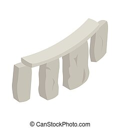 Stonehenge icon, isometric 3d style