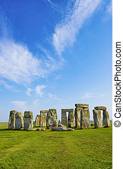 Stonehenge in Wiltshire in England in cloudy weather