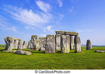 Stonehenge in Wiltshire of England in cloudy weather