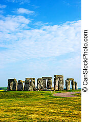 Stonehenge in Wiltshire of the Great Britain