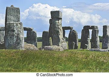 stonehenge, inglaterra, midsummer, midwinter, solstice.,...