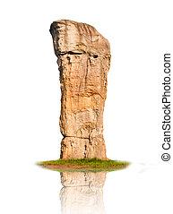 Stonehenge isolated on a white