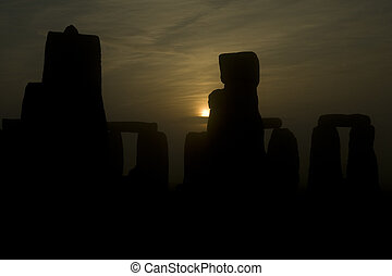 Stonehenge, located near Salisbury, England, is a...