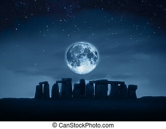stonehenge, lua cheia