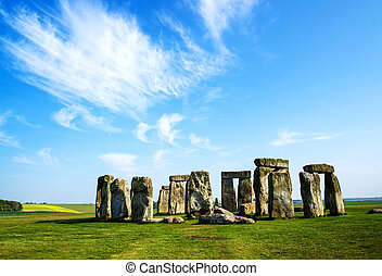 Stonehenge of Wiltshire of the Great Britain