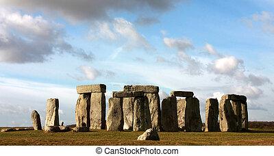 Stonehenge on Salisbury Plain near Amesbury in Wiltshire...
