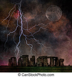 stonehenge, orageux