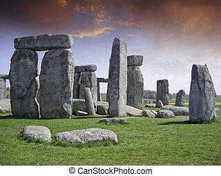 stonehenge, rochers