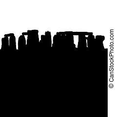stonehenge, silhouette