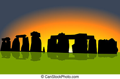 Stonehenge on sunset