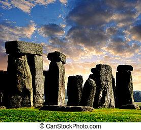 Stonehenge - Historical monument Stonehenge in the...