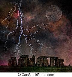 stonehenge, viharos