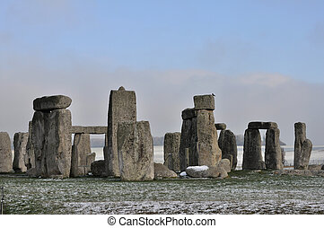 stonehenge, winter