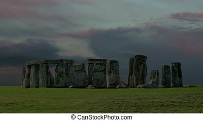 Stonehenge with cloud time lapse. - wetr we xdg fgh gjm