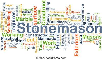 stonemason, achtergrond, concept
