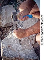 stonemason, travail