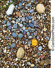 Stones and Pebbles Abstract