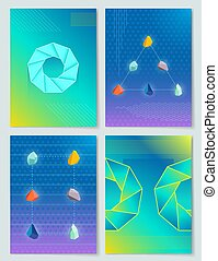 Stones and Shapes Collection Vector Illustration