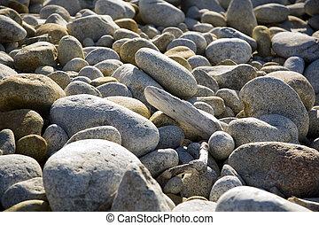 stones at the beach in harmony