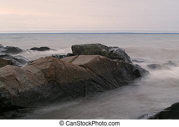 Stones in Grey Water