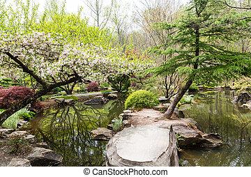 Stones in Japanese Garden