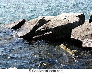Stones in lake