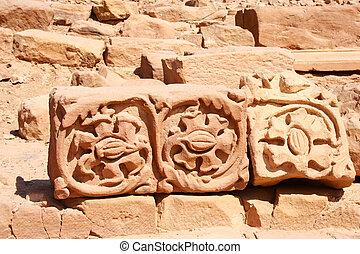 stones in rock city Petra / Jordan
