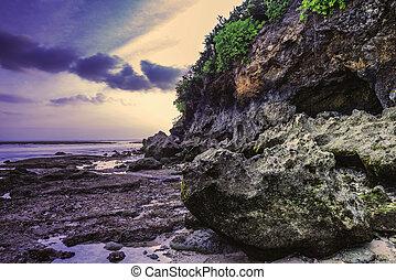 Stones in the sea
