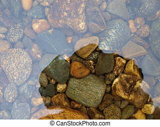 Stones in the water, Russia