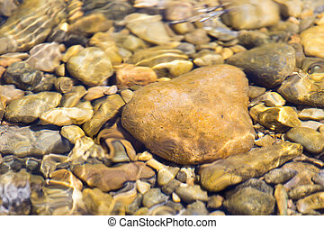 Stones in water Nature