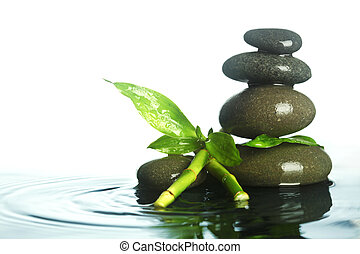 Stones in water
