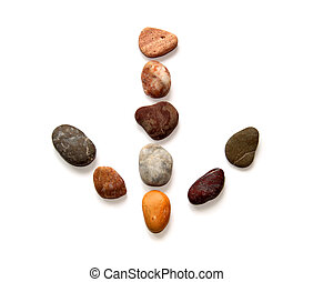 Stones laid out in the form of an arrow.
