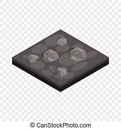 Stones landscape isometric icon