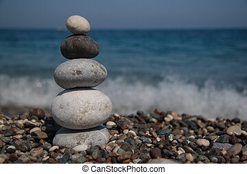 stones, mořské pobřeží