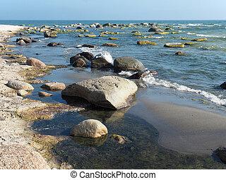 Stones on the Baltic Sea beach
