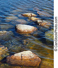 Stones on the Baltic Sea coast