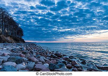 Stones on the Baltic Sea
