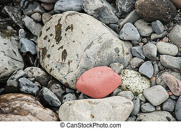 stones on the shore of the river