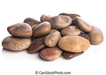 Stones on white background - Different stones on white...