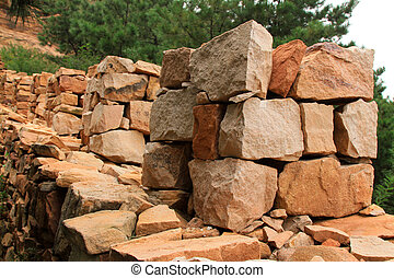 stones piled up together