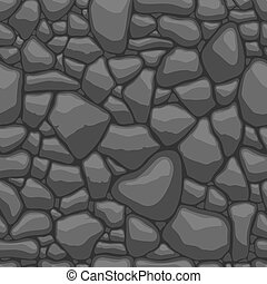 Stones seamless pattern - Seamless texture of stones in grey...
