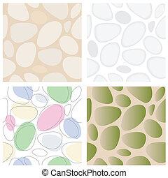 Stones Seamless Pattern Set