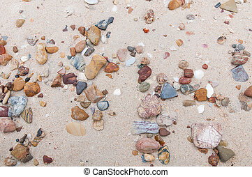 stones texture in the beach