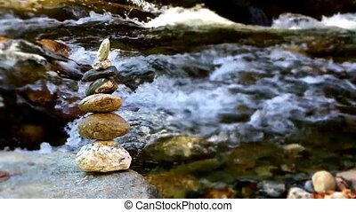 stones with water