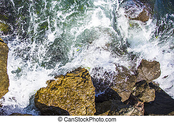 stones with waves