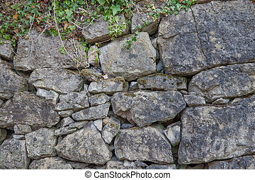 Stone wall back ground