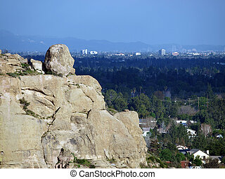 Stoney point and the San Fernando Valley on the edge of the City of Los Angeles.