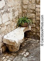Stony bench - Trogir.