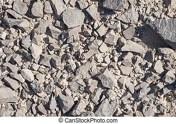 Stony ground background wallpaper - Closeup of stony ground ...