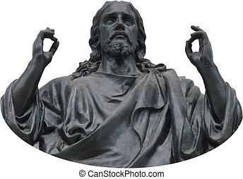 Stony portray figure of Jesus Christ